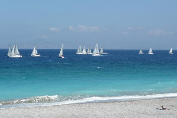 'Global MBA Trophy Yacht Race, off Ixia Beach - Rhodes, 30 April 2011' - Rodos